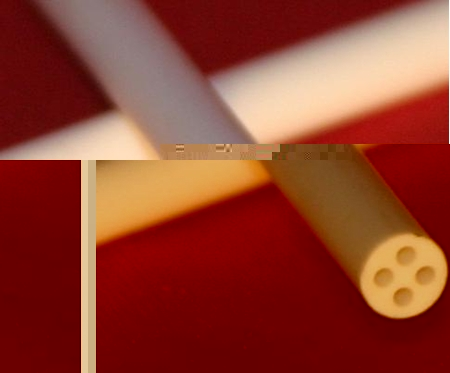 Picture for category Alumina Round 4-Bore Extruded Tubes